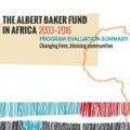 Albert Baker Fund in Africa 2003-2016