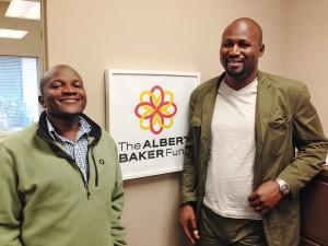 Lamech Katamba and Jean Leonard Ngabo in our Sacramento, California office.