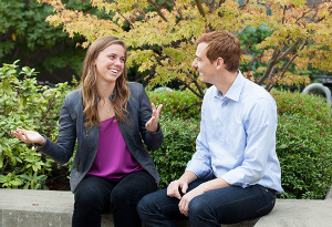 ABF recipients Hayley and Dan share how help from others led their careers to Berkeley.