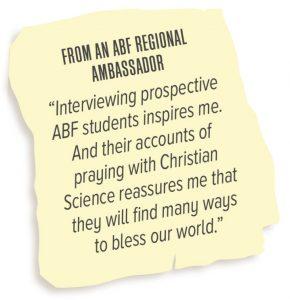 From an ABF Regional Ambassador
