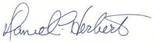Signed, Dan Herbert