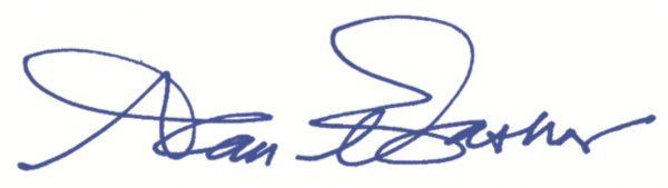 Signed, Alan Bashor